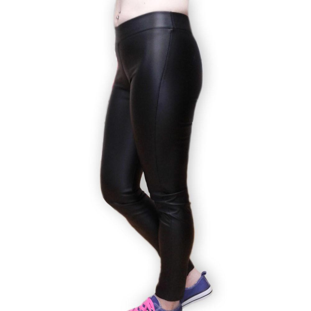 Черные кожаные легинсы-лосины женские BandWolf Street - купить в интернет-магазине дешево