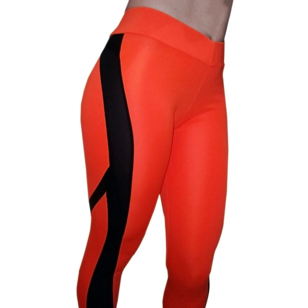 Легинсы оранжевые для фитнеса