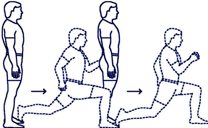 Топ 5 простых домашних упражнений. Выпады - как правильно делать